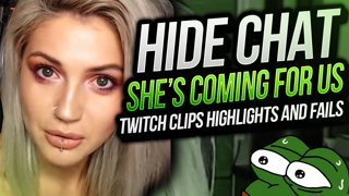 SHE'S GONE CRAZY HIDE CHAT | Twitch Clips Highlights & Fails | Djarii