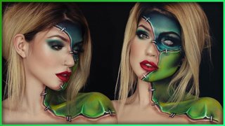 Frankenstein Halloween Inspired Body Paint | Djarii MUA