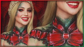 Christmas Body Paint with JordanHanz | Djarii