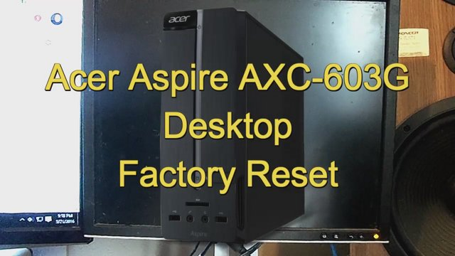 restore acer laptop to factory defaults
