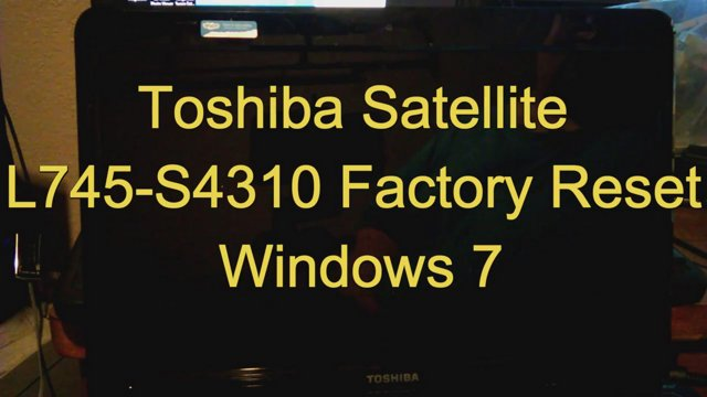 how to factory reset a toshiba