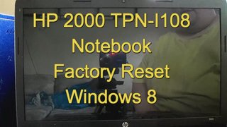 how to factory reset hp 2000 notebook pc windows 8