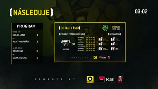 FORTUNA COOL liga finals: CS 1. semifinále (Brute.gg vs. Dark Tigers)