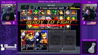 Smash Melee Tournament - DIG | Lucky (Fox) Vs. S2J (Captain Falcon) Poi Poundaz 2 SSBM Singles Grand Finals
