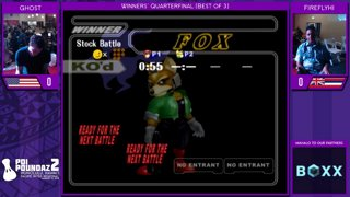 Smash Melee Tournament - Ghost (Marth) Vs. FireflyHI (Fox) Poi Poundaz 2 SSBM Singles Winnersʻ Quarterfinal