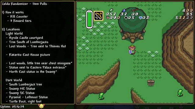 Zelda, ALTTP - Random useful information: Pull items
