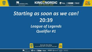 IESF World Championship - Swedish Qualifier - League of Legends #1 - King of Nordic - SESF 21:00 CET