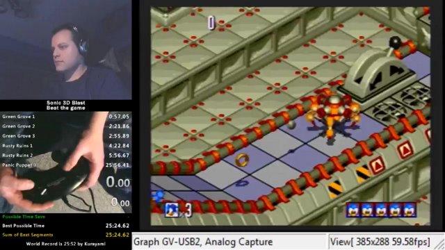 Sonic 3D Blast: Panic Puppet 1 in 1:00