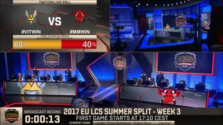 [SRB-CRO] EU LCS Summer 2017 - Week 3 Day 1: VIT vs. MM Game 1