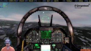 F/A-18E Super Hornet Low Level Glacier Run w/ Tehch