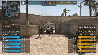 CS:GO - Heroic vs. North [Mirage] Map 2 - Group B - ESL Pro League Season 9 Europe
