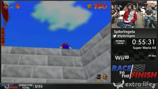 Super Mario 64 by SpikeVegeta (70 Star) - Race to the Finish