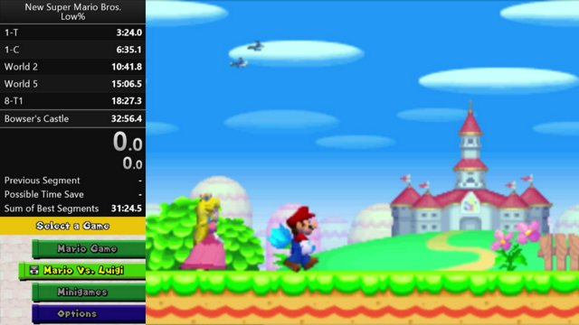 New Super Mario Bros  low% (no powerups) in 31:09