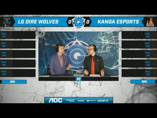 AOC CGPL Winter Semi Final - Dire Wolves VS Kanga Esports Game 1