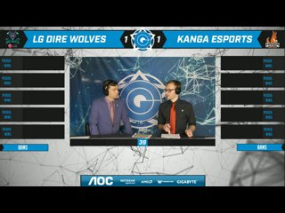 AOC CGPL Winter Semi Final - Dire Wolves VS Kanga Esports Game 3