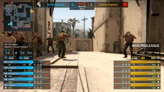 CS:GO - Ghost vs. Infinity [Mirage] Map 1 - Group B - ESL Pro League Season 9 Americas