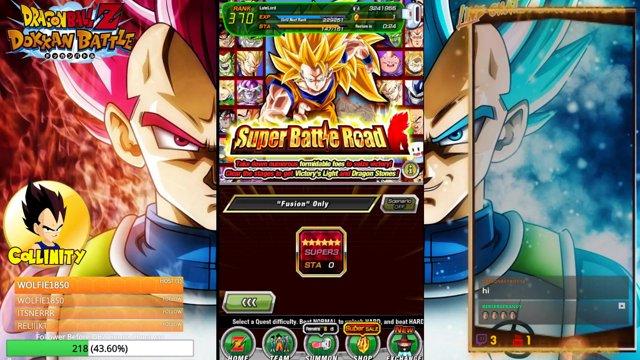 DBZ Dokkan Battle - Fusion Team SBR w/ New DBS Movie Gogeta (Completed)