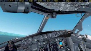Handcam P-8A Poseidon Landing into Key West NAS