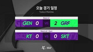 LCK Spring:  GRF vs. GEN - KT vs. SKT