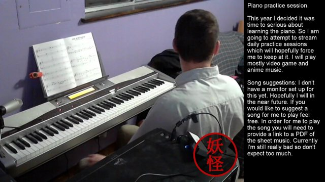 Learning Piano Challenge - January 2016
