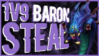 Insane 1v9 Baron Steal On 130ms l GrandMasters Kled