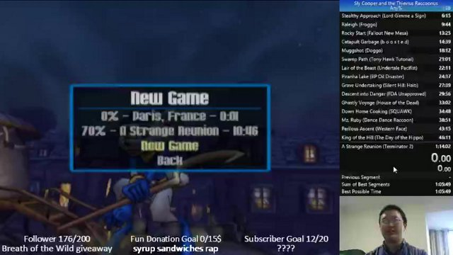 sly 1 any% in 1:13:02 (emulator)