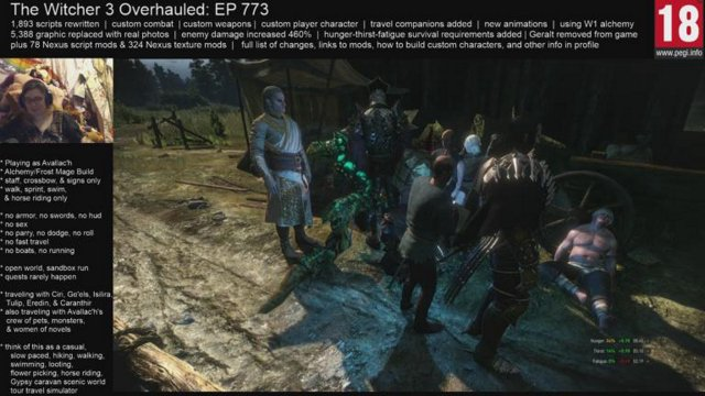 Witcher 3 EP 773 - Detlauf and Caranthir do not make good travel companions