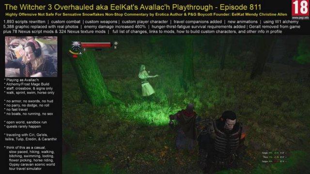 Witcher 3 EP 811 - Slowly hiking across Crookback Bog - Very short stream