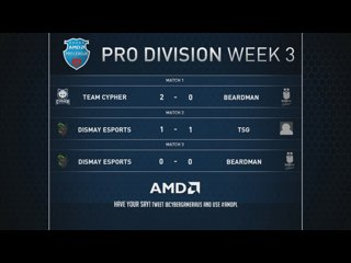 AMD Pro Leagues week 3 - TSG VS Dismay Game 2