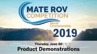 2019 Product Demonstrations, Thursday PM