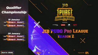 JIB PUBG Thailand Pro League Season 2 Presented by HyperX | Lenovo | Corgar | APC รอบ 64 ทีมสุดท้าย กลุ่ม A, B