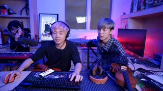 9/26/2018: playing music with A KPOP STAR - jk it's JunCurryAhn <3 (sleightlysavage, destiny was right) also lily