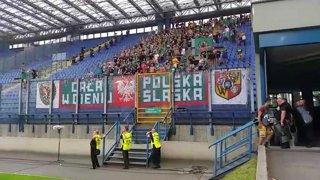 Wisła Kraków - Śląsk Wrocław (kibice z piłkarzami po meczu)