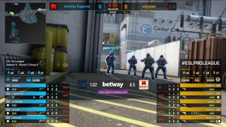CS:GO - eUnited vs. Infinity [Nuke] Map 2 - Group B - ESL Pro League Season 9 Americas