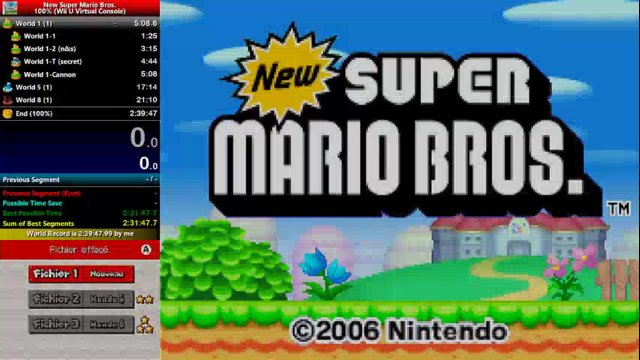 GregLvk   [World Record]   New Super Mario Bros. (DS) (100%) In 2:38:02    Part.01   Twitch