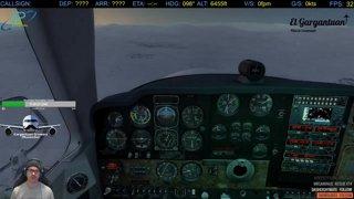 Bonanza V35 Dive and Duck approach to Snow Strip (FSEconomy)