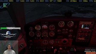 A2A Bonanza KJAC Landing (FSEconomy)