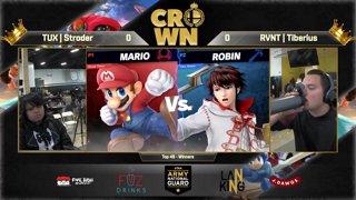 Crown 2019 SSBU - TUX | Stroder (Joker, Mario, Greninja) Vs. RVNT | Tiberius (Robin, Richter) Smash Ultimate Tournament Top 48