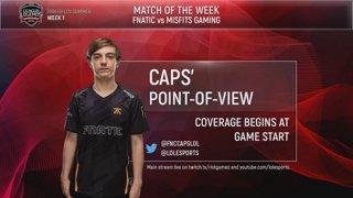 EU LCS Summer (2018) | Week 1 Day 1: Fnatic vs Misfits Gaming - CAPS PoV Stream