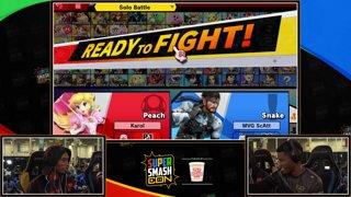 SSC 2019 SSBU - MVG Scatt (Snake) VS eUnited Samsora (Peach) Smash Ultimate Winner's Top 48
