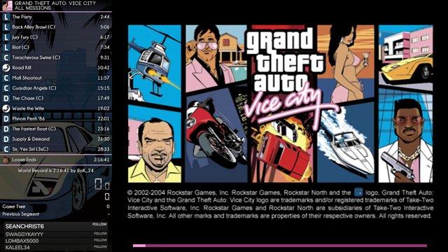 GTA Vice City Speedrun - All Missions - 2:15:40