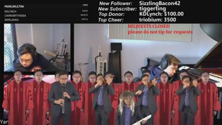 Symphonic looping live learning music stream with the most keyboards on twitch xD
