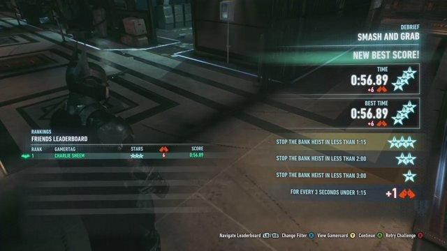 Batman Arkham Knight Gameplay Walkthrough Guide - AR Challenges - Smash and  Grab (3 STARS)