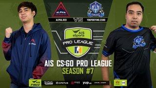 AIS CS:GO Pro League Season#7 R.2 Alpha Red vs. Yokpokying MAP2 Vertigo