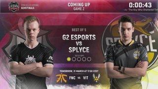 G2 vs. SPY | Semifinals Day 1 | EU LCS Spring Split | G2 Esports vs. Splyce (2018)