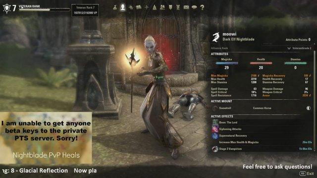 ESO VR7 Nightblade Healer Solos VR6 World Boss