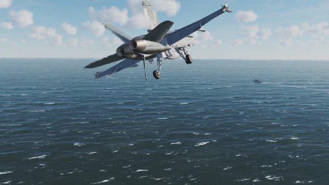 DCS World F/A-18C Block 20 - CASE 1 Landing