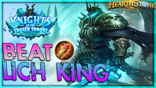 How to beat THE LICH KING [Mage] - Solo Adventure 🌟 HEARTHSTONE | Frozen  Throne Legend