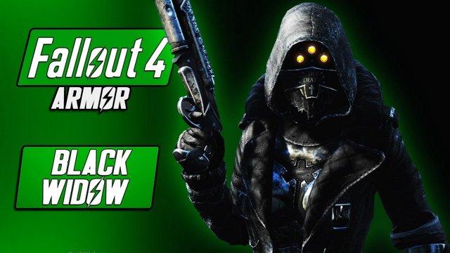 BLACK WIDOW Armor + Pip Boy Skin - Fallout 4 Armor Mods - Underworld Game  Mode! - Fallout 4 Mods