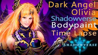 Shadowverse! Dark Angel Olivia Bodypaint time lapse! Sponsored
